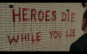 """Mark left the message, """"Heroes die while you lie."""""""
