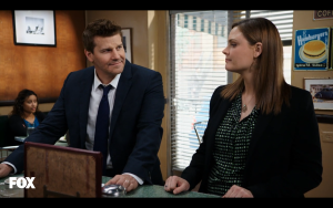 This week Booth and Brennan hardly had any scenes together and when they did, it was very awkward.