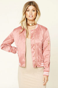 Forever 21 Twelve Quilted Satin Bomber Jacket